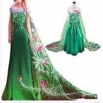 Fantasia Vestido Elsa Anna Frozen Fever Luxo Promoção