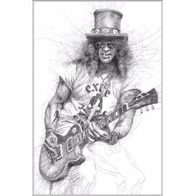 Poster Slash Desenho De Rabiscos 60x90cm Foto Rock Guns Arte