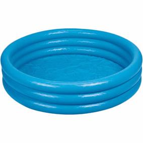 Piscina Inflavel Intex 500 Litros Azul Redonda 1.68m + Bomba