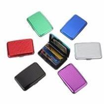 12 Cartera Tarjeteros De Aluminio De Colores Variados Regalo