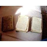 Set De 3 Libros Antiguos En Espanol