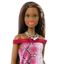 Boneca Barbie Fashionistas Pretty In Python Negra Grace