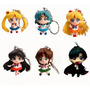 Set 6 Llaveros Sailor Moon Coleccion Diseño Mini