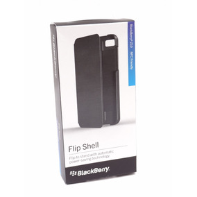 Blackberry Z10 Funda Original Flip Shell Negro (fedorimx)