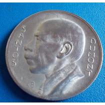 Santos Dumont- Bela Moeda De Prata De 5.000 Reis-1936