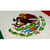 Bandera De Mexico Doblemente Bordada Reglamentaria 90 X 1.58