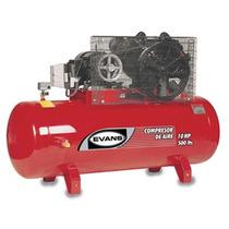 Compresor 10 Hp Trifasico 500 L 175 Psi Marca Evans Oferta