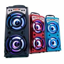 Caixa Som Bluetooh Amplificada Radio Fm Digital Entrada Usb