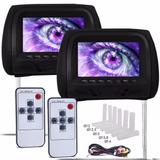 Par Encosto De Cabeça Monitor Lcd Controle Remoto Tela7p