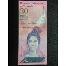 Venezuela - Billete De 20 Bolívares Fuertes, Año 2011 - Exc