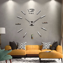 Relógio De Parede 3d Espelhado Preto Dourado - Grande