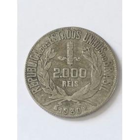 Moeda Prata 2000 Reis 1930 República Estados Unidos Brasil