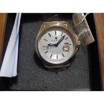 Reloj Para Hombre Haste 112461345 Redondo, Blanco Y Plata