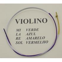 Corda Ré Para Violino Avulsa Mauro Calixto - Corda D Amarelo