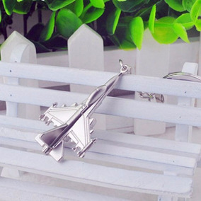 Chaveiro Avião Jato Caça 3d Aço Inox Cromado