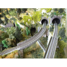 Par De Portal De Tunel Para Maquetes - Escala 1/160 N