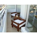 Sillones Ideal Balcon - Exterior Madera - Muebles Jardin