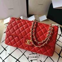 Bolsa Chanel 2.55cm Lambskin Vermelha/dourado Original