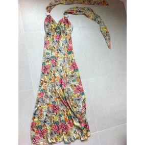 Vestido Longo Floral Tamanho 38 Frente Unica Casamento