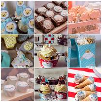 Baby Shower Todo Para Tu Mesa Dulce, Cupcakes, Cookies, Pops