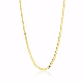 Corrente Piastrine 70cm + Estrela De Davi Em Ouro 18k 750