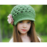 Hermosos Gorros Tejido A Crochet Para Bebe Niña Y Adolecente