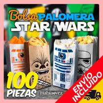 Paquete De 100 Bolsas Para Palomitas De Star Wars Con Envío