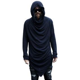 Abrigo Dark Gotico Grunge Hombre Capucha