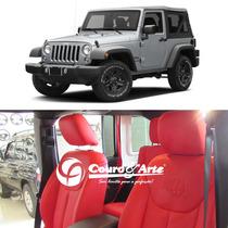 Revestimento 100% Couro Jeep Wrangler De 2013/2017 4 Portas