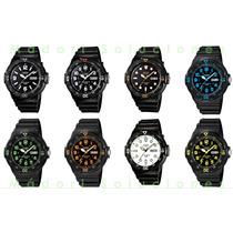 Reloj Casio Azul Neón Análogo Día Y Fecha Envio Gratis