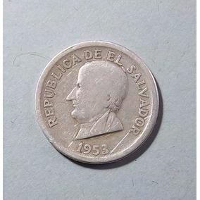El Salvador 25 Centavos 1953 Plata 900 Muy Bueno Km 137