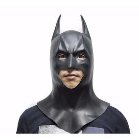 Máscara Borracha Latex Batman Halloween Carnaval Fantasia