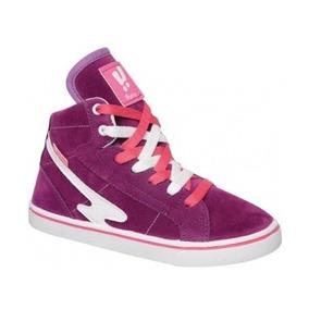 Zapatillas Infantiles Botita Gamuzada Color Violeta Talle 33