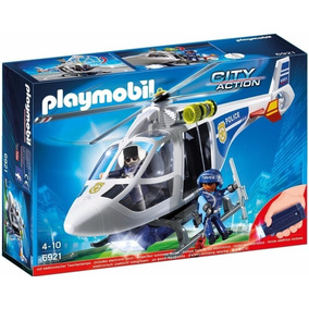 Playmobil Helicoptero Policia Luz 6921 City Action Educando