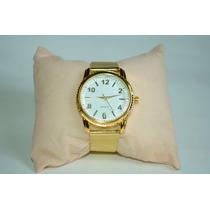 Relógio Feminino Pulseira Dourada Lindo Barato