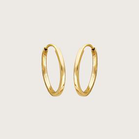 Argola Redonda Em Ouro 18k (750)