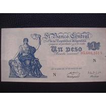 Argentina - Billete D 1 Peso Moneda Nacional, Año 1950 - S/c