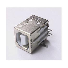 60 Pzs Conector Usb Tipo B Hembra Pcb Soldar.