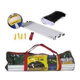 Kit Jogo Volei C/ Rede Mastros Bomba Infladora Voleibol