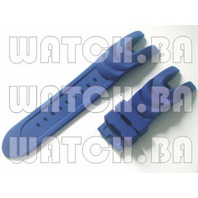 Pulseira Para Invicta 6113 - Borracha - Azul - Nova!