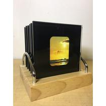 Portavasos Set 6 Cristal Con Foto Personalizados