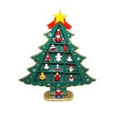 Adorno De Navidad Para Mesa Elaborado En Madera