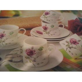 Set Tazas Y Platos Para Café X 6 En Caja Especial. Porcelana