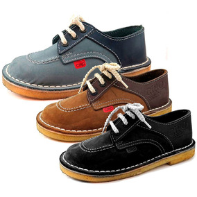 Zapatos T/ Kickers Colegial Cuero Cordon 34-40 Children