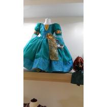 Disfraz Vestido Merida,la Princesa Valiente Talla 3 Envio Gr
