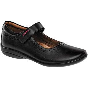 Zapato Piel Coqueta 170702-a Negro Niña Pv