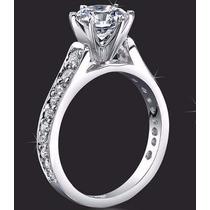 Anillos Compromiso 14kt 2.00ct Diamante Forever Brilliant