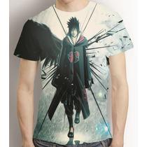 Camisa Sasuke Uchiha Camiseta Anime Naruto - Estampa Total