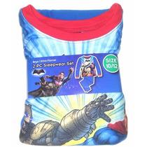 Pijama Batman Vs Superman 10/12 Navidad Regalo Niño Hogar