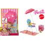Muebles Barbie Picnic Sombrilla Perrito Reposera Accesorio